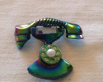 On Sale Adorable Vintage Telephone Pin Set