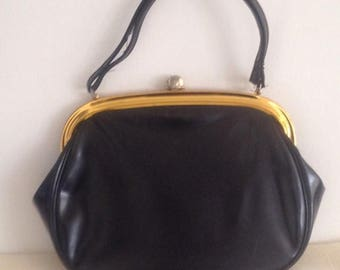 Anniversary Sale Ladies Vintage Black Patent Purse