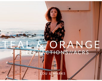 Teal And Orange Pack for Lightroom & Photoshop Actions, Presets, ACRs for Bright Portrait and Modern Edits in Adobe Lightroom Photoshop