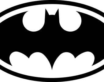 Batman Bat Logo vinyl sticker decal - car caravan laptop 14cm x 8cm