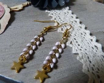 BO enameled ear chain & star