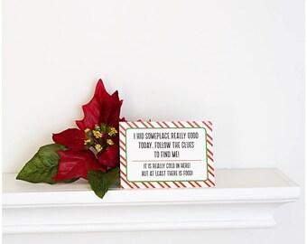 Elf Scavenger Hunt, Scavenger Hunt Elf, Christmas Elf Accessories, Santa's Elf Prop, Elf Printable, Christmas Elf Ideas, Easy Elf Ideas