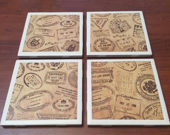 Passport Stamp Coasters