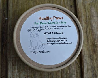 Healthy Paws Dog Pad Balm & Salve, Pets, Natural, Protect, Moisturize, Balm, Smooth, Gift, Travel, Dogs, Cats, Heal, Repair