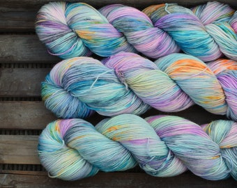 "Hand Dyed Sock Yarn - ""Colourplay 02""- Batch 2 - Merino / Nylon - 4ply - 100g"