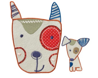 Patch/Ironing-Set dog children-colorful-various sizes-by catch-the-Patch ® patch appliqué applications for ironing application patches patch
