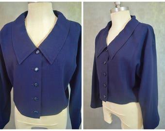 Vintage Chloe Silk Jacket | Vintage Silk Blazer | Vintage Designer Jacket | Chloe Silk Jacket