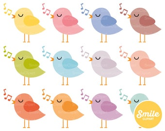 Songbird Clipart Illustration for Commercial Use | 0292