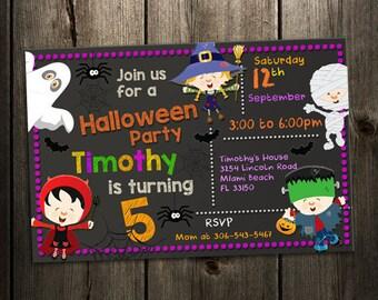 Halloween invitation | Etsy