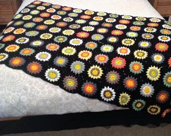 Blanket sunburst crochet