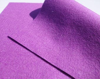 "100% Wool Felt Sheet in Color CROCUS - 18"" X 18"" Wool Felt Sheet - Merino Wool Felt - European Wool Felt"