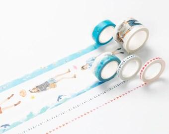 Girls Washi Tape - Blue Set