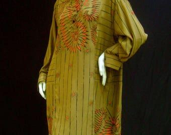 Zandra Rhodes Avant Garde Silk Tunic Dress