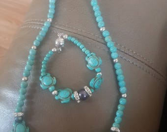 Turquoise, Black pearls, and turtles