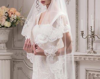 Handmade Wedding Veil ''Carrie'' On SALE!  20% off with code NYBRIDEJUN