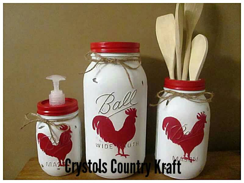 Rooster Chicken Kitchen Sets Red Rooster Soap Dispenser