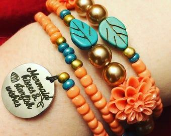 Mermaid Kisses and Starfish Wishes Bracelet