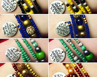 Harry Potter Best Friend Bracelet Set - I Solemnly Swear I Am Up To No Good/Mischief Managed