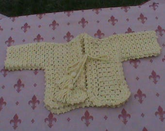 Crochet Baby Unique Jacket & Hat
