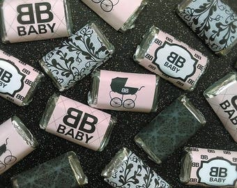 Fashionable Baby Shower Miniature Candy Bar Wrappers