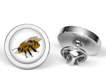 Honeybee Pin - Bee Brooch - Beekeeper Gift - Beekeeping Present (Lifetime Guarantee) P0049