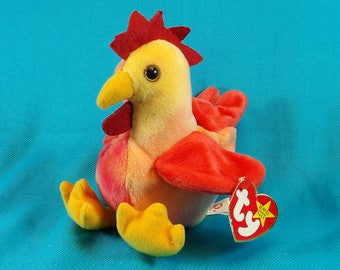 Ty Beanie Baby Strut the Rooster Plush Toy