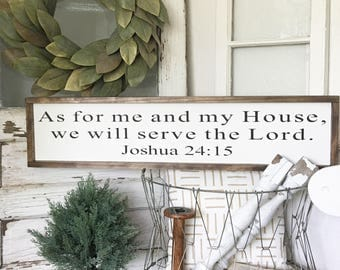 Large As for me and my house Sign