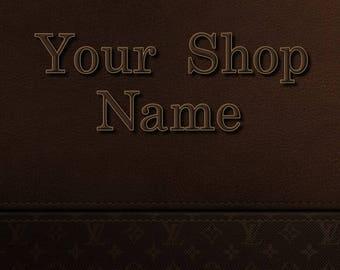Brown Leather Banner, Shop Banner Set, Shop Banner, Cover Photo, Digital Graphics Custom Banner, Premade Banner, Graphic Design