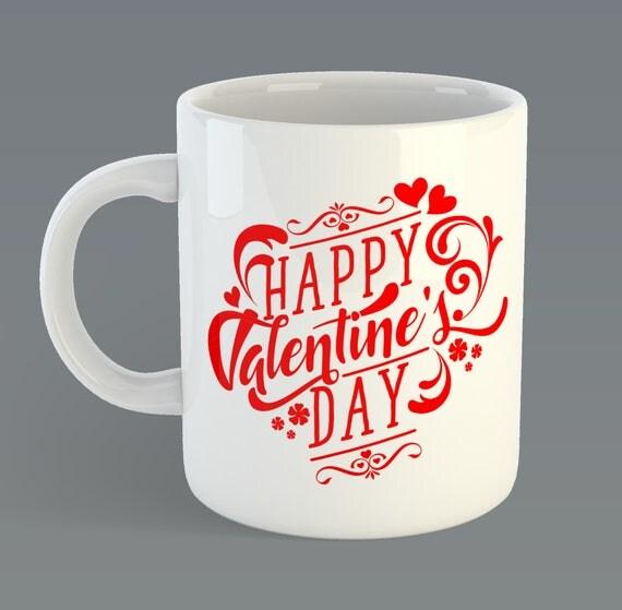 """Valentines Day """"Happy Valentines Day"""" Custom Coffee Mug Gift"""
