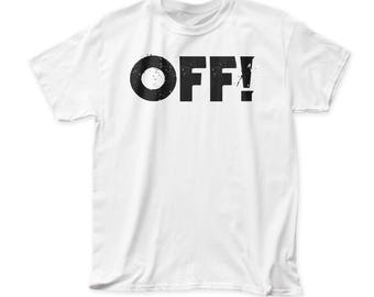 OFF! Logo Men's Tradition Fit 18/1 Cotton Tee (OFF01) White