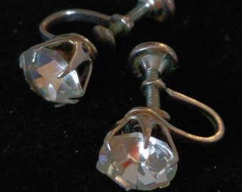 Vintage and Sparkly Rhinestone Earrings