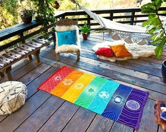 Chakra Towel Yoga Mat