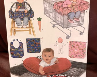 Simplicity uncut baby accessory pattern with 7 + items