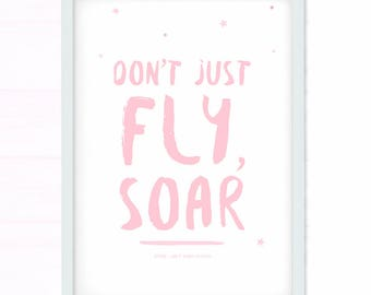 Baby Shower // Baby Gift // Baby Girl // Baby Shower Gift // Baby Print // New Baby Gift // Inspirational Quote // Pink Nursery