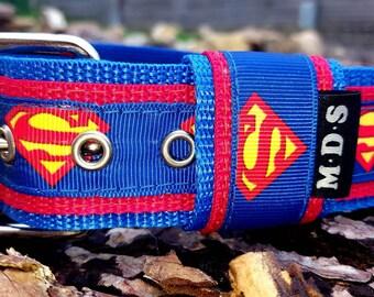 Dog collar - dog - collar strap - Doggy necklace ' Summer - Superman