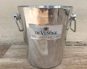 Vintage French Champagne French Ice Bucket Cooler DE VENOGE RARE 13101713