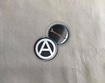 Anarchy Button | Buttons | Pins | Punk Button | Punk Pin | Pinback Pins | Iron Front Pin | Antifa Button | Liberation Button | Cute Pins