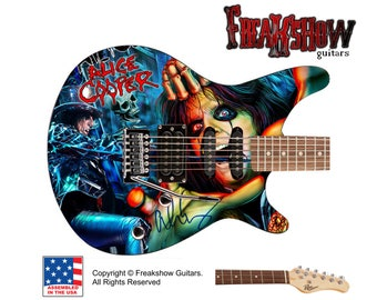 ALICE COOPER Electric Guitar - Free US Shipping - Freakshow Guitars