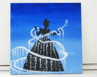 Cinderella Acrylic Canvas Painting