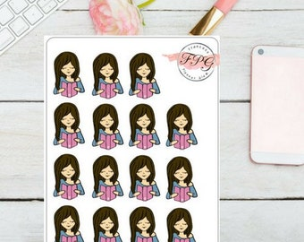 Meet Lola the  Planner Girl Sticker for your planner