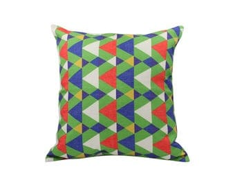 Geometric decorative pillow covers Rustic throw pillow covers Linen pillow cases Modern cushion cover Sofa accent pillows Home decor 18x18