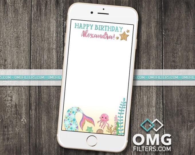 Mermaid Party 4 - Custom Snapchat Filter - Any Age!