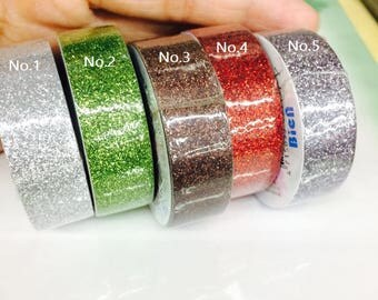 No.5 Sliver 15mm x 5m glitter wasabi tape