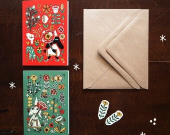 Botanic magic greetings cards, envelopes and stickers