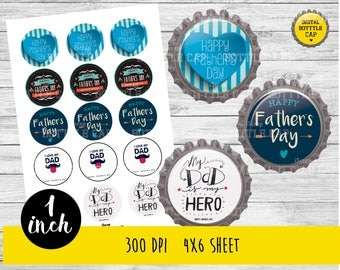 COD169-50% OFF SALE Father's day Collage Sheet-1 inch Bottlecap-Printable Image Download for pendants magnets party bottle cap