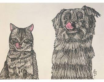 Dog & Cat Pals Print