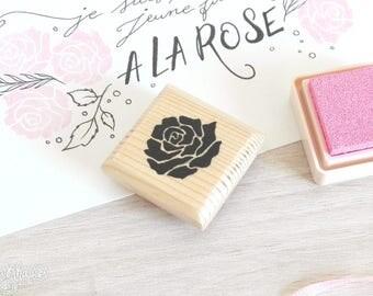 Rose flower stamp (handmade)