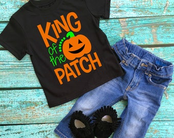 Pumpkin Patch Shirt - King the Pumpkin Patch - Fall Shirt - Halloween Shirt - Boy Pumpkin Shirt - Boy Halloween Shirt - King of the Patch
