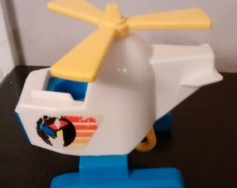 Vintage Fisher Price Little People Helicopter  1978