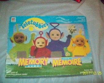 Teletubbies Memory Game with 2 levels of play (Simple,Regular) Complete ,Milton Bradley